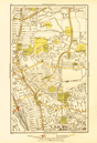 WOOD GREEN. Tottenham Bowes Noel Park West Green Turnpike Lane 1933 old map